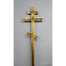 Крест деревянный прямой лак большой 2,25м