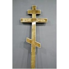 Крест деревянный прямой лак вечная память 2,25 м