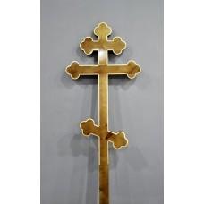 Крест деревянный фигурный лак малый 2,1 м