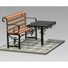Комплект (скамья,стол) №ГГ-СТ-01