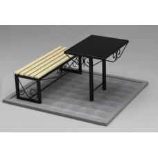 Комплект (скамья,стол) №ГГ-СТ-02