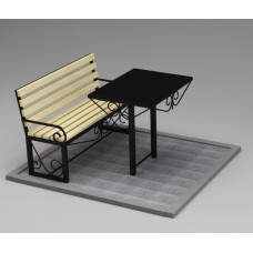 Комплект (скамья,стол) №ГГ-СТ-03