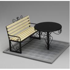 Комплект (скамья,стол) №ГГ-СТ-07