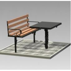 Комплект (скамья,стол) №ГГ-СТ-08