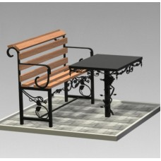 Комплект (скамья,стол) №ГГ-СТ-10