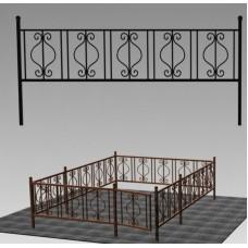 Ограда кованая №ГГ-ОГ-07